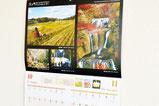【カレンダー×写真大会】 コンテスト応募写真から厳選して、美しい地域性がPRされています。