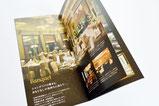 【パンフレット×ホテル】 手に取りやすいサイズで作成した施設全体の案内パンフレット。