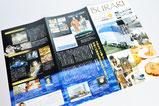 【パンフレット×鉄道】 鉄道の利用促進のため、沿線の魅力を伝える冊子を季刊発行しています。