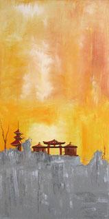 Inspiration Japan, Acryl auf Leinwand 50 x 100