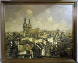 Adolf Cristmann, Eupen Oberstadt,St. Nikolaus, Öl auf Leinwand, Spachteltechnik , € 1400,00
