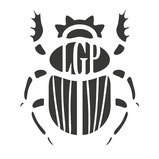 Logo scarabée pour le groupe vocal Les Goules Poly