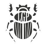 Logo scarabée du groupe vocal Les Goules Poly
