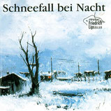 Friedrich Lips - Schneefall bei Nacht