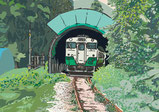 Tadami Line -201109 Sheltering from the Rain-