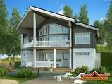 Architektenhaus Hannover als Hanghaus - Wohnblockhaus - Blockhausbau