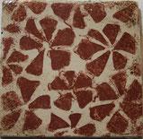 Vintage Style Plättli mit Blumen Muster Vinca in Rot