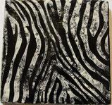 Plättli mit Muster eines Zebra Fell