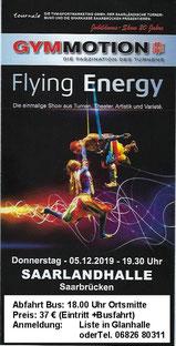 Fahrt zur Gymmotion - Flyer der Veranstaltung
