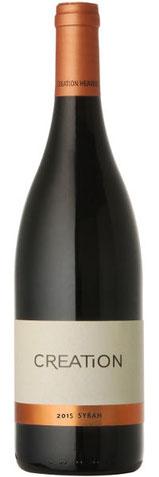 Syrah 2015  100% Syrah, 14,5% Alk. Der Creation Wines Syrah ist ein großzügiger aromatischer Wein mit beeindruckender Maraschino-Kirsche und pfeffriger Würze kombiniert mit einem Hauch von Veilchen. Reif mit seidigem Gaumen und lebendiger Mineralität, die