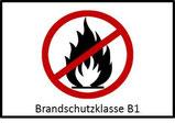 Das Akustik-Deckensegel verfügt über die Brandschutzklasse B1.