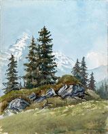 Der Eiger, vom Waldspitz aus gesehen.