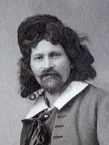 Arthur Gloor im April 1909 fotografiert als Zar bei einem Opern-Auftritt