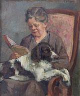 Lesende mit Hund