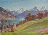 Einigen mit Berner Alpen