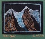 Berglandschaft mit Gletscher