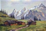 Bei Mürren mit Eiger, Mönch, Jungfrau