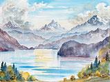 Thunersee und die Berge