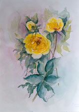 Gelbe Wildrosen
