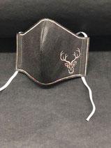 Alltagsmaske schwarz Hirsch