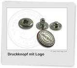 Druckknopf-mit-Logo, Logoknopf