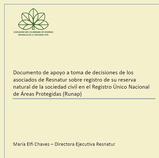 Documento de apoyo a toma de decisiones de los asociados de Resnatur sobre registro de su RNSC en el Runap