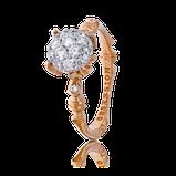 Solitär-Ring aus der Kollektion Baby Gremlin in Rotgold mit Brillanten