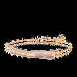 Armband in Rotgold mit Brillanten und pinken Saphiren aus der Baby Gremlin Kollektion der Goldschmiede OBSESSION