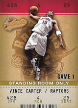 VINCE CARTER / Standing Room Only - No. 1  (#d 25/25)