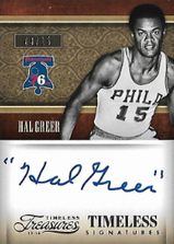 HAL GREER / Timeless Signatures - No. 47  (#d 3/15)