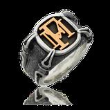 Ring in Silber mit Monogram in Rotgold aus der Gremlin Männerschmuck Kollektion der Goldschmiede OBSESSION