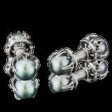 Manschettenknöpfe in Silber mit Tahitiperlen aus der Gremlin Männerschmuck Kollektion der Goldschmiede OBSESSION