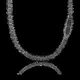 Herrencollier in schwarz-rhodiniertem Silber aus der Matrix Kollektion der Goldchmiede OBSESSION