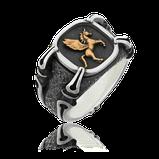 Herrenring in Silber mit Logo in Rotgold aus der Gremlin Männerschmuck Kollektion der Goldschmiede OBSESSION