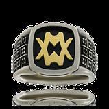Einzigartiger Monogramm-Ring in Weissgold mit persönlichem Monogramm, angefertigt von der Goldschmiede OBSESSION Zürich und Wetzikon