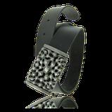 Gürtel mit schwarzem Ledergurt und Silber Schnalle aus der Mikrokosmos Männerschmuck Kollektion der Goldschmiede OBSESSION