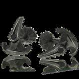 Manschettenknöpfe in Silber aus der Gremlin Männerschmuck Kollektion der Goldschmiede OBSESSION