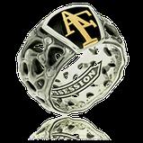 Monogramm Ring in Silber und Gelbgold aus dem Atelier der Goldschmiede OBSESSION in Wetzikon und Zürich