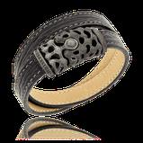 Doppelriehiges Lederarmband mit Silberverschluss aus der Kollektion Mokrokosmos von der Goldschmiede OBSESSION aus Wetzikon und Zürich
