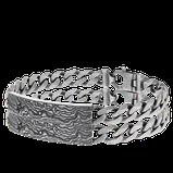 Armband in schwarz-rhodiniertem Silber aus der Schatzkarten Kollektion der Goldschmiede OBSESSION