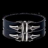 Leder-Armband mit Silber Schliesse aus der Herrenschmuck Kollektion Gremlin von der Goldschmiede OBSESSION