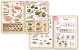 【メニュー×飲食店】 お店のイメージに合わせ、女性にターゲットを絞ったデザインにしました。