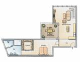 Grundriss Wohnung 2 OG1
