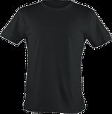 Strichpunkt T-Shirts,  alle Farben, Schwarz