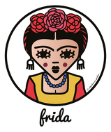 ICONS ICONES FRIDA KAHLO ILLUSTRATION AFFICHE ART MURAL POSTER CREATION ORIGINALE © Stephanie Gerlier / T FOR TIGER