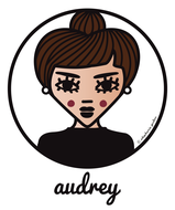 ICONS ICONES TRIBUTE AUDREY HEPBURN ILLUSTRATION ART PRINT POSTER TOTE BAGS MUGS BADGES © Stephanie Gerlier / T FOR TIGER