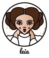 ICONS ICONES TRIBUTE LEIA ILLUSTRATION ART PRINT POSTER TOTE BAGS MUGS BADGES © Stephanie Gerlier / T FOR TIGER