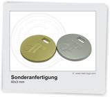 Logoplakette für Taschen  individualisierbar