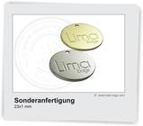 Logoplättchen aus Metall für Taschen