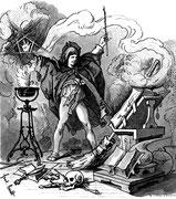Illustration etwa 1882 von Ferdinand Barth